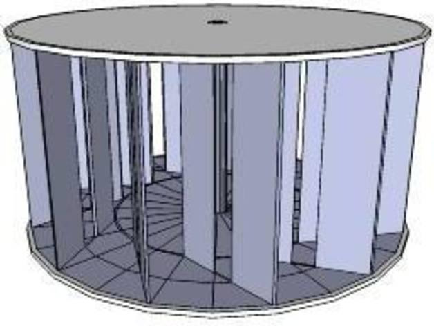 垂直风车 3D打印模型渲染图