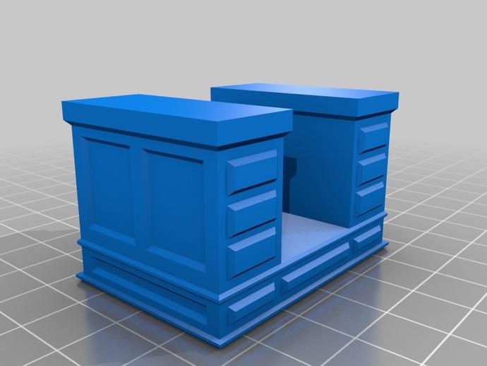大班台办公桌 3D打印模型渲染图