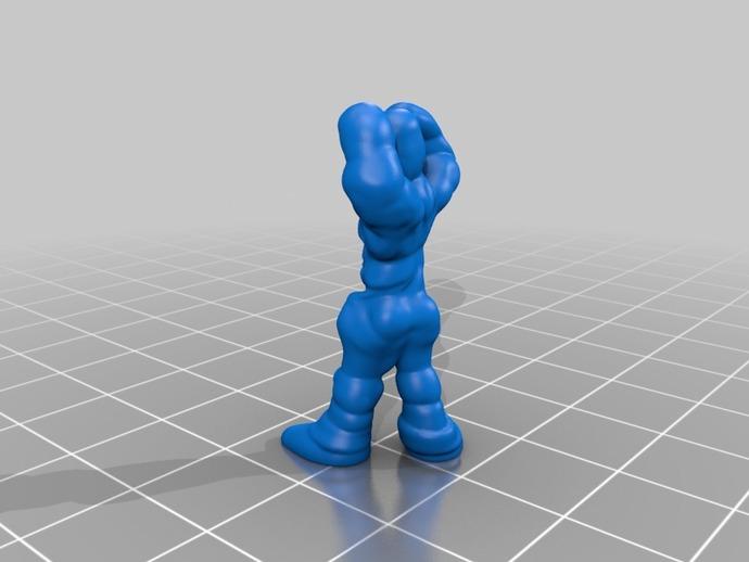 巨型机器人 3D打印模型渲染图