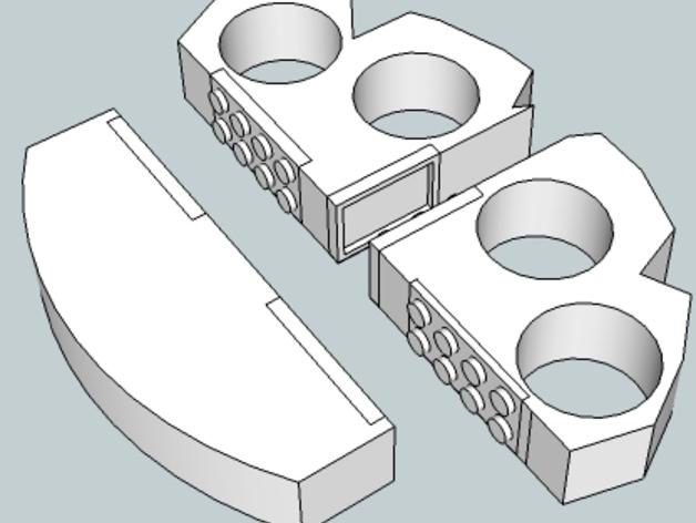 可折叠的指环套  3D打印模型渲染图