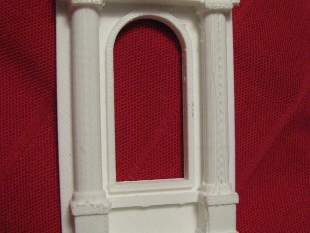 窗户 梁柱 3D打印模型渲染图