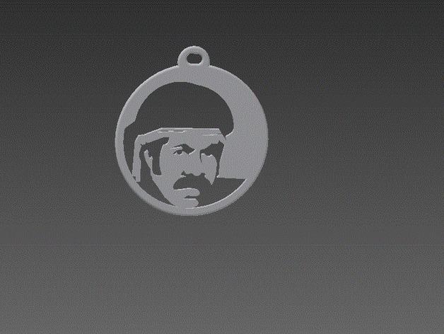 黑色炸药 头像钥匙链 3D打印模型渲染图