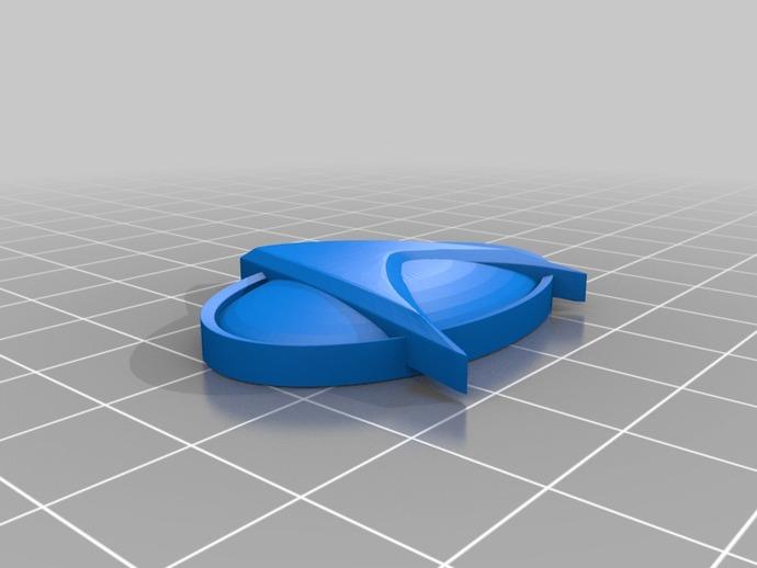 通信飞船徽章 3D打印模型渲染图