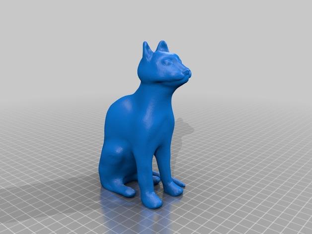 猫咪 3D打印模型渲染图