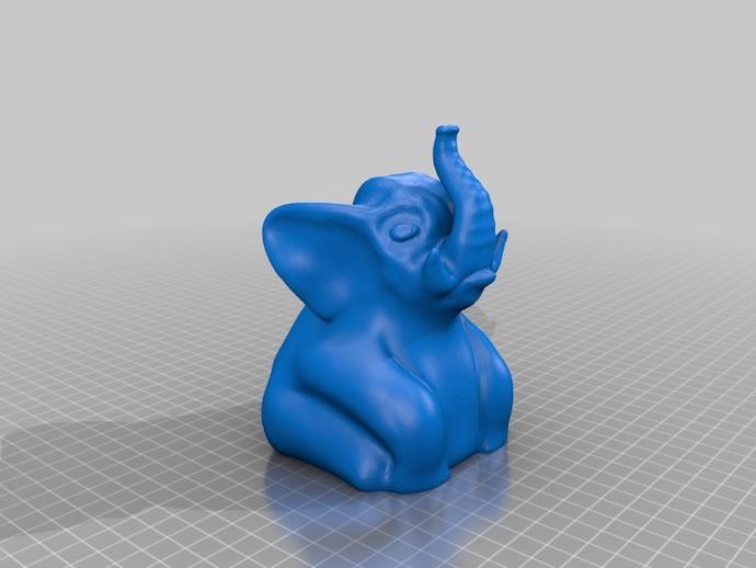 大象宝宝 3D打印模型渲染图