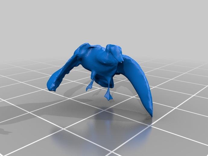 鸟 野鸭  3D打印模型渲染图