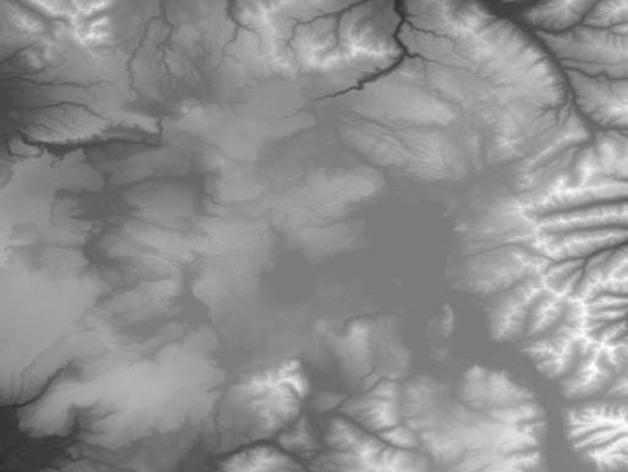 黄石公园超级火山地形模型