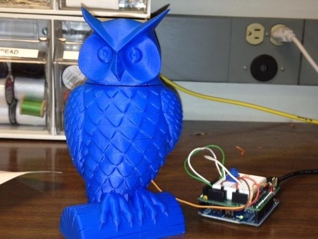 猫头鹰  3D打印模型渲染图