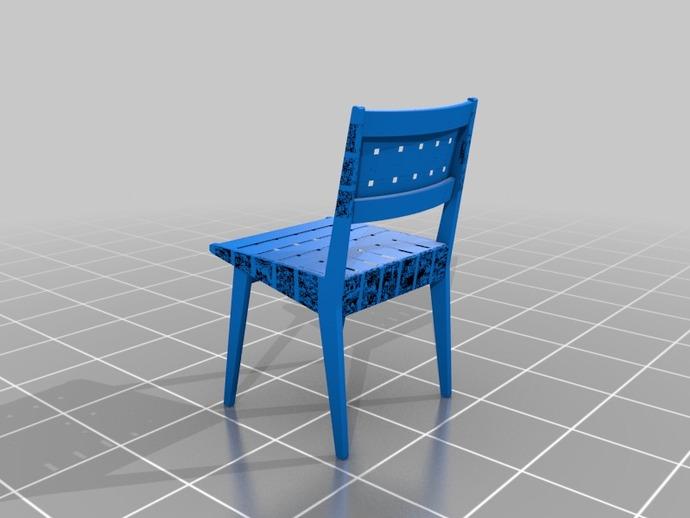 餐椅 椅子  3D打印模型渲染图