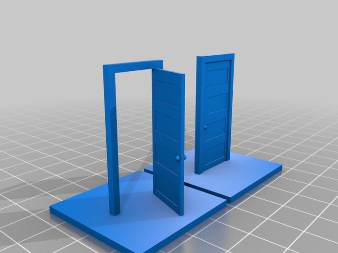 门 门框 3D打印模型渲染图
