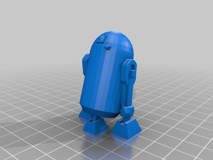 星球大战R2-D2机器人 3D打印模型渲染图