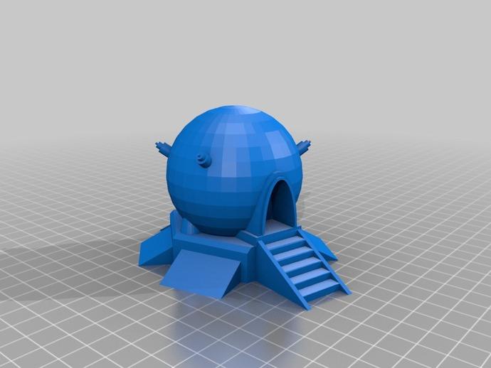 球形建筑 时光机  3D打印模型渲染图