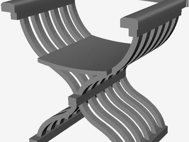 中世纪椅子 3D打印模型渲染图