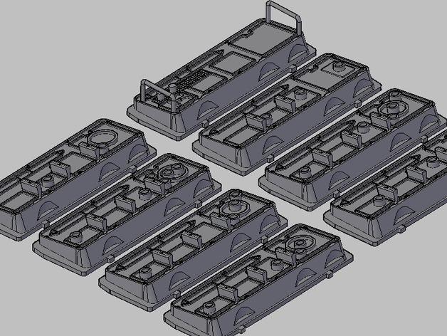 韩索罗的控制板 3D打印模型渲染图
