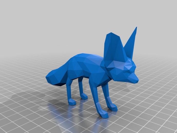 狐狸 3D打印模型渲染图