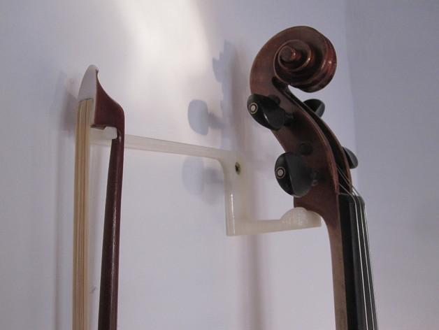 小提琴支架 3D打印模型渲染图