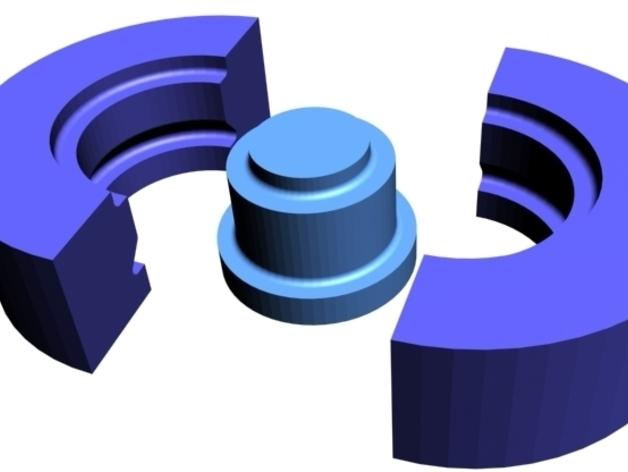608号皮带轮模具 3D打印模型渲染图