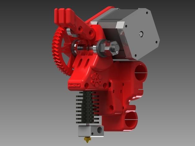 齿轮驱动挤出机 3D打印模型渲染图