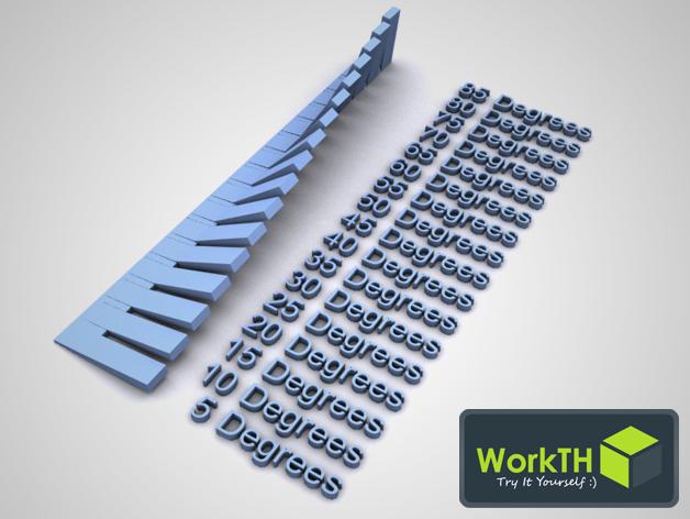 ABS/PLA 3D打印模型角度测试 3D打印模型渲染图