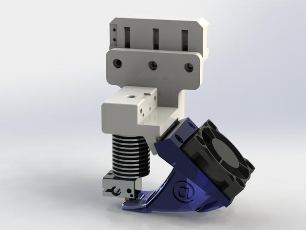挤压机风扇 3D打印模型渲染图