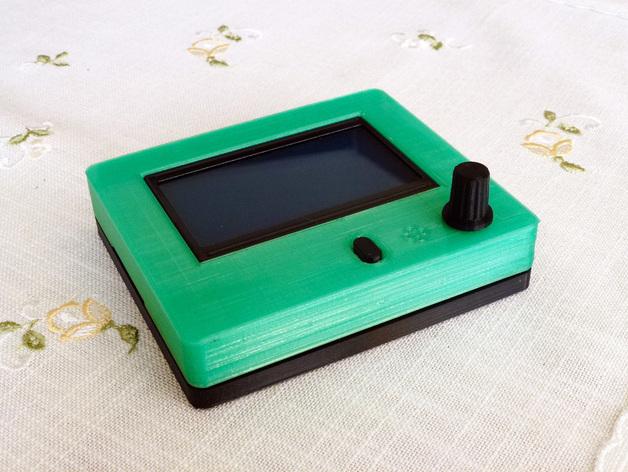 智能图形LCD控制器外壳 3D打印模型渲染图