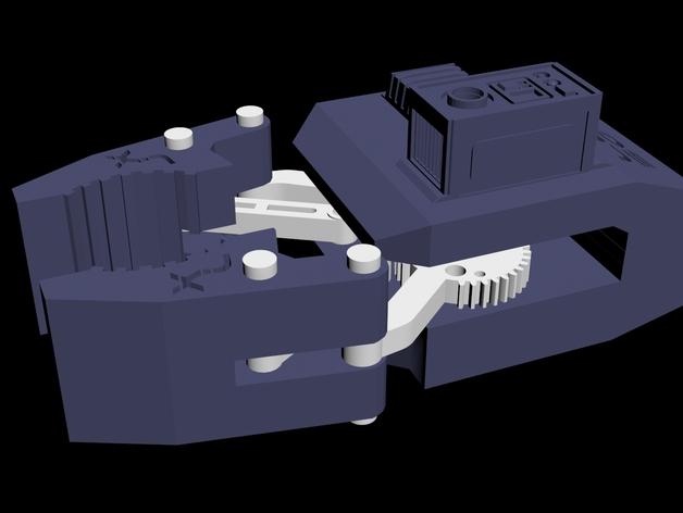 HD-7爪形器具 3D打印模型渲染图