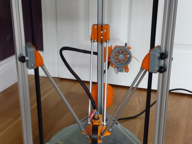Cherry Pi 3D打印机线轴架/布线环 3D打印模型渲染图