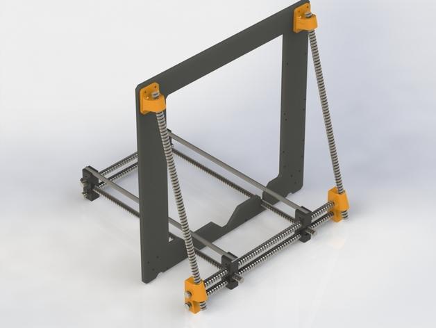 Prusa i3 3D打印机外壳支架 3D打印模型渲染图
