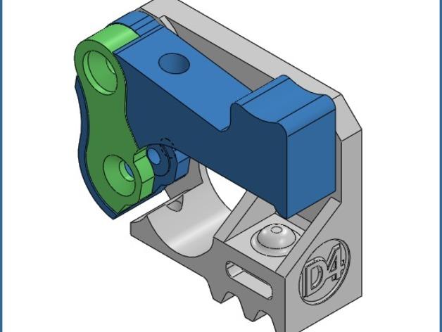 Mk8弹簧加压挤出机驱动装置 3D打印模型渲染图