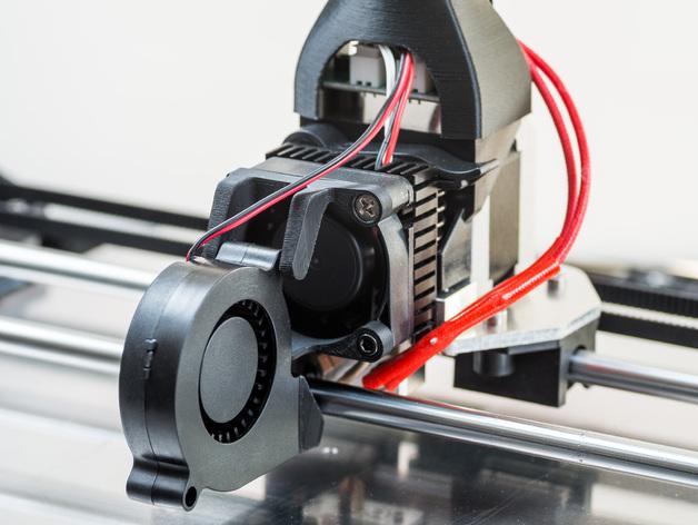 RigidBot冷却风扇底座 3D打印模型渲染图