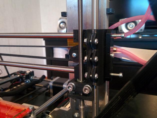 Prusa i3 3D打印机XZ轴 3D打印模型渲染图
