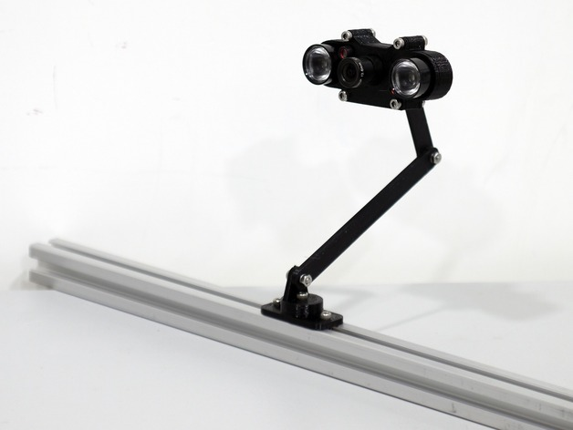 树莓派相机架 3D打印模型渲染图