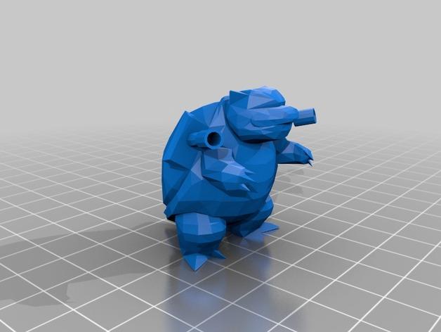 水箭龟 3D打印模型渲染图