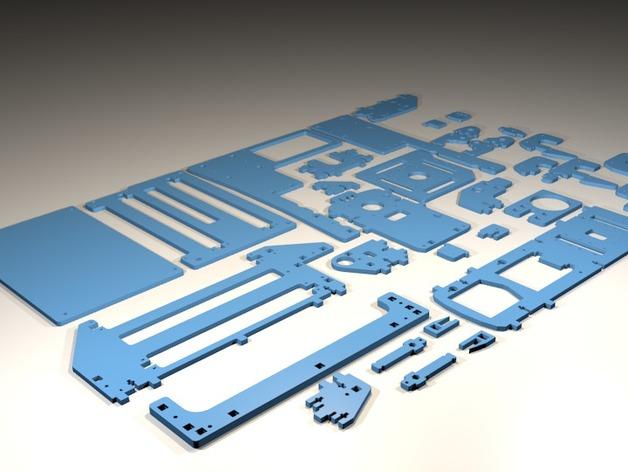 Printrbot 3D打印机零部件 3D打印模型渲染图