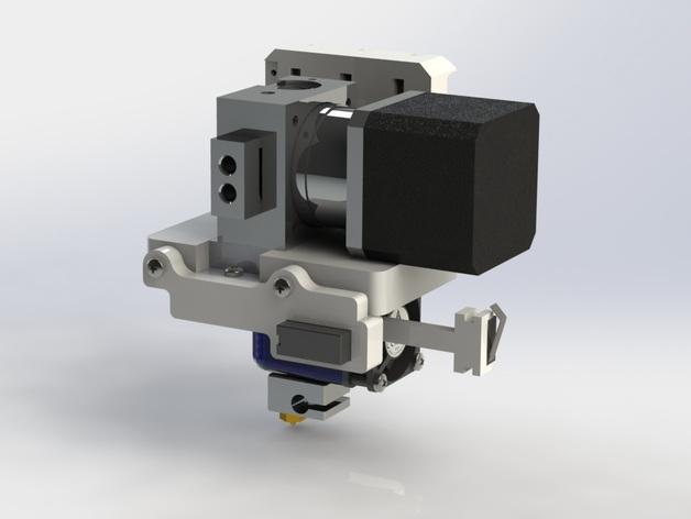Prusa i3 3D打印机挤出机配适器 3D打印模型渲染图