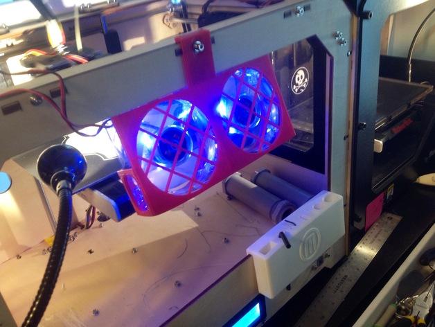 3D打印机风扇外壳 3D打印模型渲染图