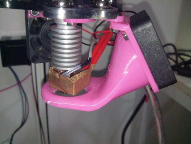 Kossel 800打印机通风导管 3D打印模型渲染图