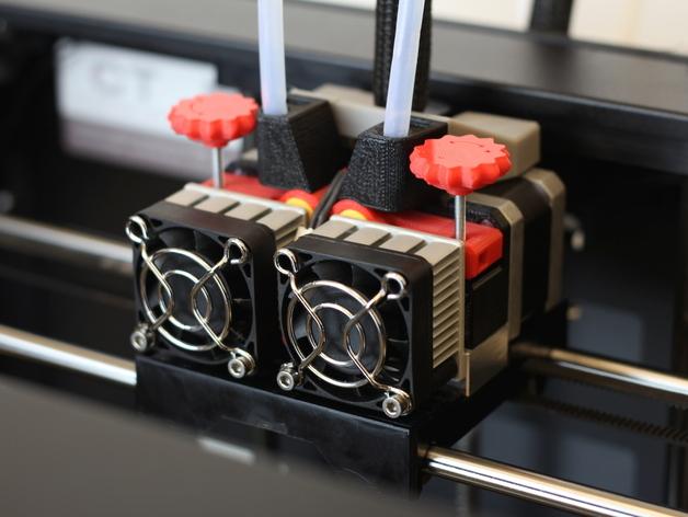 Replicator 2X的可调节挤压机驱动壳 3D打印模型渲染图