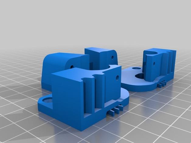 Replicator 2X的可调节挤压机驱动壳