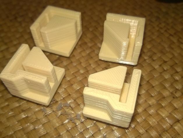打印机直角底座 3D打印模型渲染图