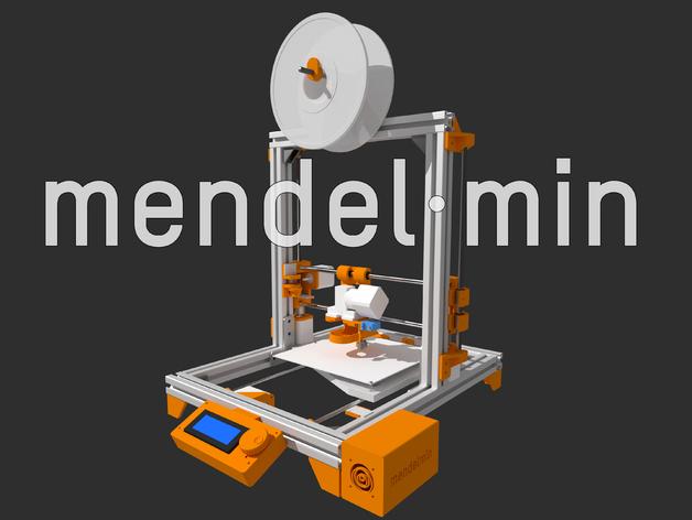 Mendelmin打印机 3D打印模型渲染图