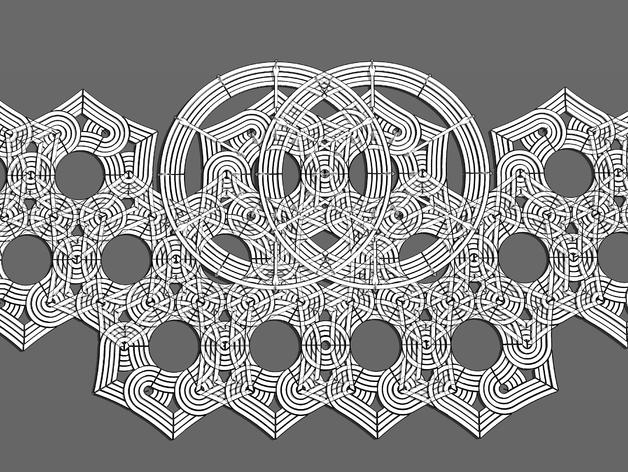 六角星透光浮雕板