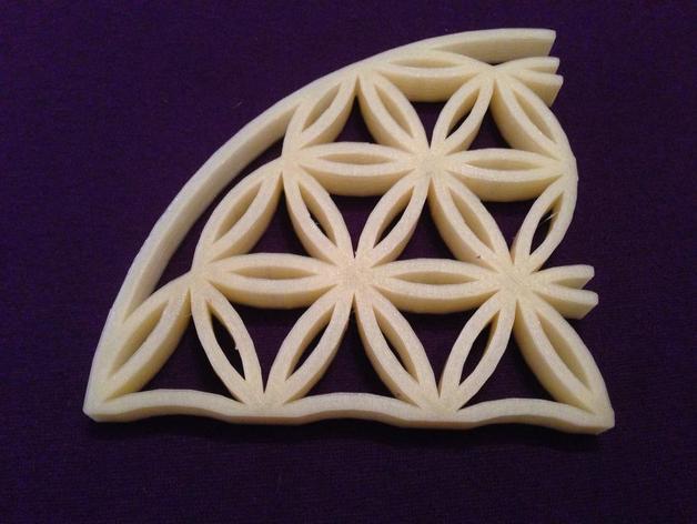生命之花墙饰 3D打印模型渲染图