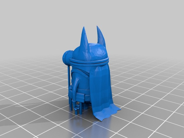 萌版蝙蝠侠 3D打印模型渲染图