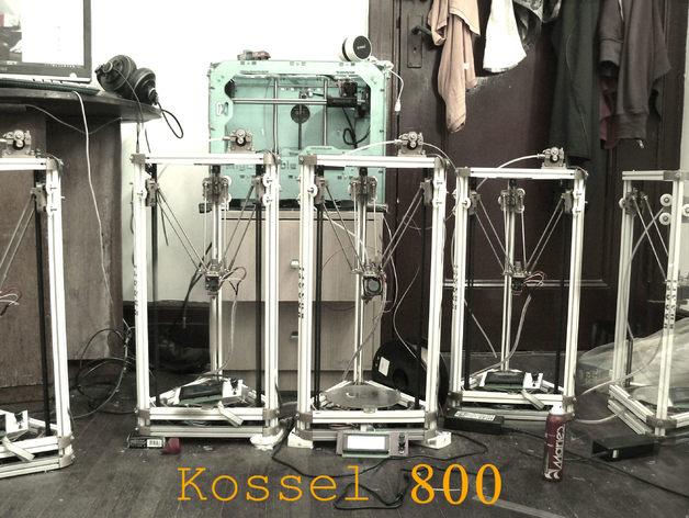kossel800 delta 3d打印机  3D打印模型渲染图