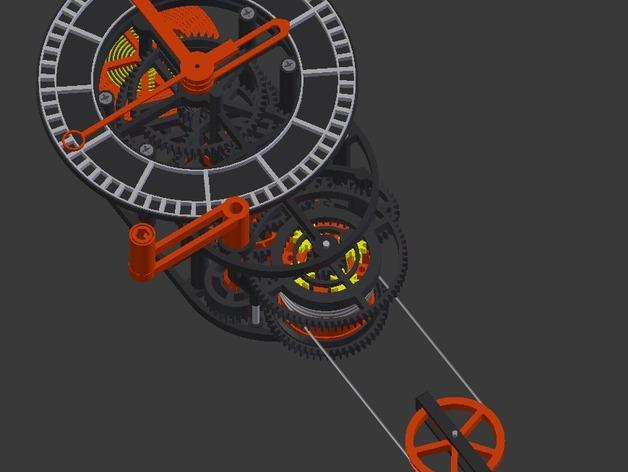 机械钟 3D打印模型渲染图