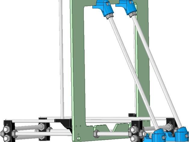 Prusa i3打印机铝制框架