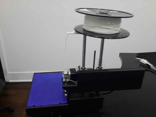 旋转线轴架 3D打印模型渲染图