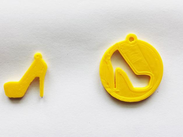 高跟鞋坠饰 3D打印模型渲染图