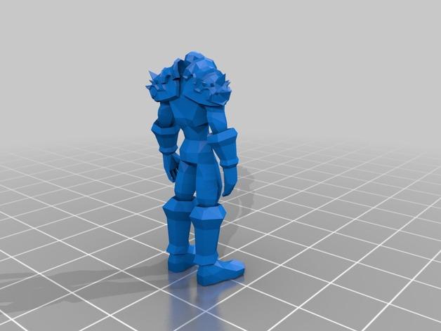 战士与维纳斯 3D打印模型渲染图